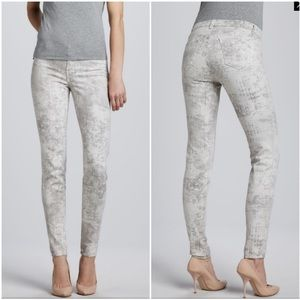 J BRAND Super Skinny Noise Abstract Light Jeans